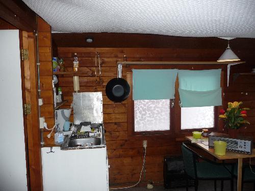 Houten chalet 6x4 red cedar hout 7 cm - Houten chalet interieur ...