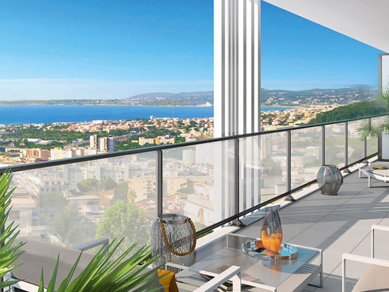 nieuw appartement met zeezicht en zwembad te koop nice fabron. Black Bedroom Furniture Sets. Home Design Ideas